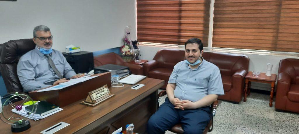 استقبل السيد مدير المركز الاستاذ الدكتور مروان عبدالحميد عاشور المحترم